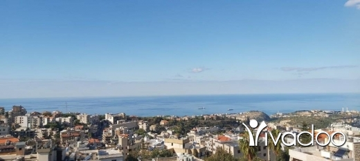 Apartments in Kornet Chehwane -  A decorated 140 m2 apartment with an open mountain/sea view for sale in Mazraat yachouh