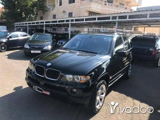 BMW in Nabatyeh - X5 model 2004 panoramic, nevi, Black-Black