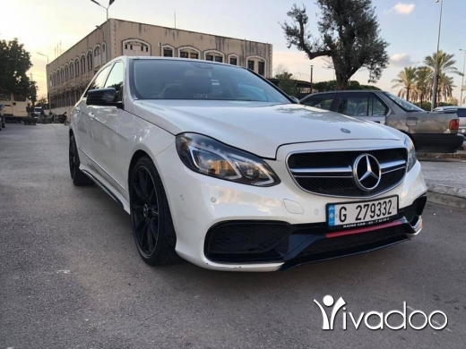 Mercedes-Benz in Beirut City - E350 2010 White Look 2015 AMG