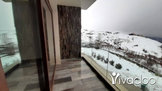 Chalet in Faraya - A 115 m2 duplex chalet having an open mountain view for sale in Faraya