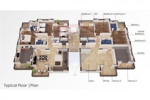 Apartments in Nakhleh - شقق سكنية قيدالانشاء للبيع في منطقة النخلة- الكورة