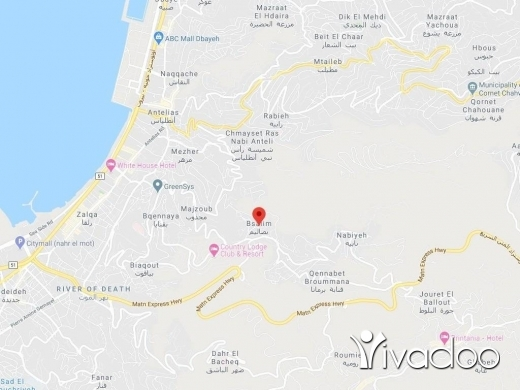 Land in Bsalim - A 1120 m2 land for sale in Bsalim