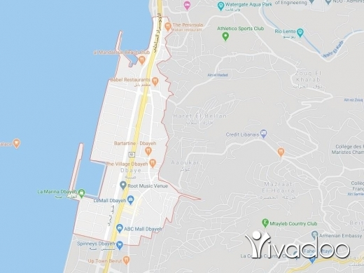 Land in Dbayeh - A 2043 m2 land for sale in Dbaye