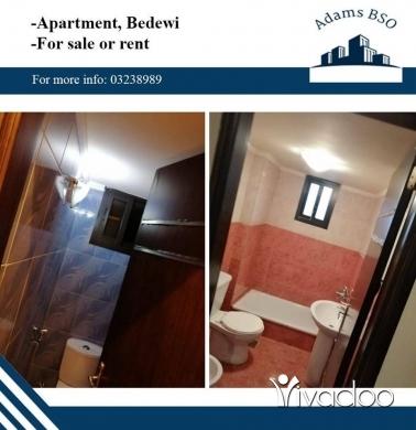 Apartments in Tripoli - شقة للبيع أو للايجار في جبل البداوي