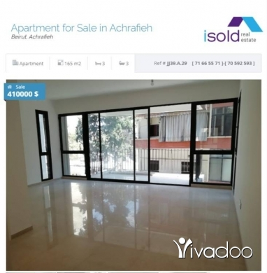 Apartments in Beirut City - A new 165 m2 apartment for sale in Achrafieh