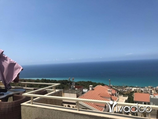 Apartments in Halate - A furnished 400 m2 duplex apartment with an open sea view and terrace for sale in Halat