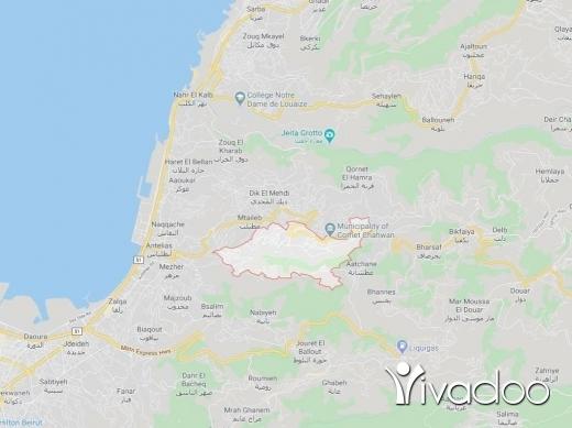 Land in Kornet Chehwane - A 1300 m2 land for sale in Kornet Chehwen