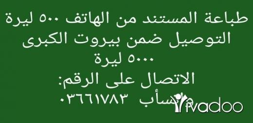 Business & Office in Berj Hammoud - طباعة مستندات من الهاتف مع امكانية التوصيل