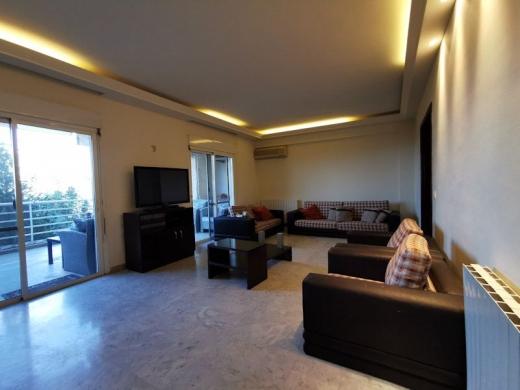 Apartments in Kornet Al Hamra - Furnished Apartment with Terrace for Rent in Kornet El Hamra