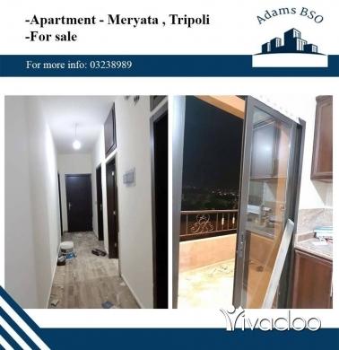 Apartments in Tripoli - شقة لقطة للبيع في طرابلس مرياطة,