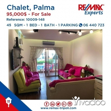 Apartments in Tripoli - Furnished Chalet For Sale At Palma Resort, Tripoli