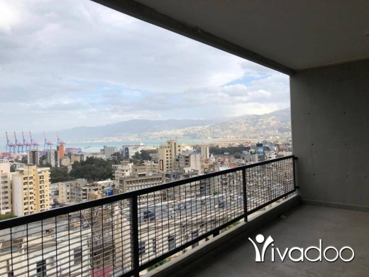 Apartments in Achrafieh - A 200 m2 apartment for sale in Achrafieh - Geitawi  with an open sea view