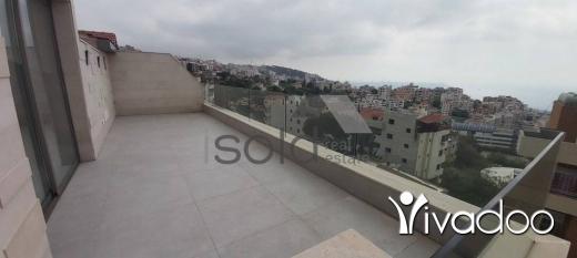 Apartments in Dik El Mehdi - A 250 m2 duplex apartment with an open sea view for sale in Dik El Mehde