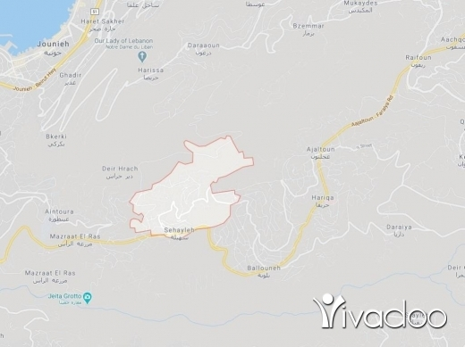 Land in Sehayleh - A 1483 m2 land for sale in Sehayli with a sea view