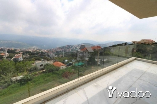Apartments in Dahr el-Souan - A decorated 288 m2 duplex apartment with a terrace and a view for sale in Daher El Souwen
