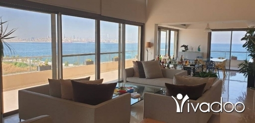 Penthouse in Dbayeh - A FURNISHED, DUPLEX PENTHOUSE WITH BREATHTAKING VIEWS FOR RENT IN WATERFRONT CITY, DBAYEH
