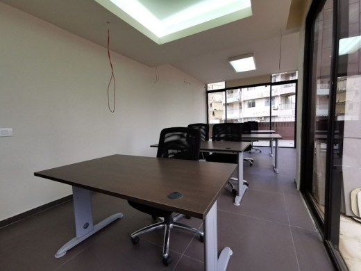 Office in Sin el-Fil - Fully Furnished Office with Terrace for Rent in Sin El Fil