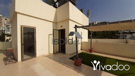 Apartments in Jal el-Dib - A 150 m2 apartment with a terrace having an open sea view for rent in Jal El Dib