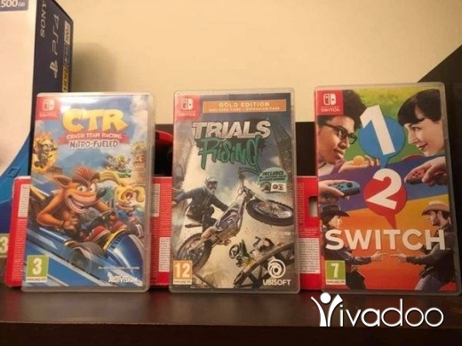 Video Games & Consoles in Beirut City - Open Box Nintendo Switch with 3 Games!