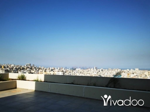 Apartments in Sin el-Fil - A 265  m2 duplex apartment with a terrace and an open sea view for sale in Sin El Fil