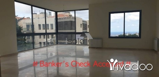 Apartments in Baabda - A 200 m2 apartment having an open sea view for sale in Baabda