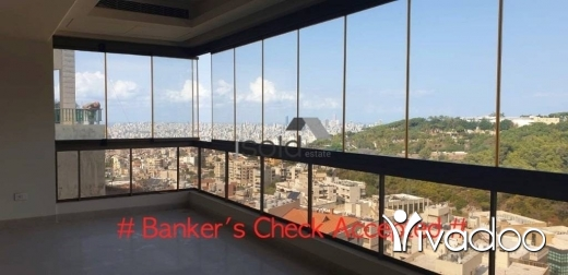 Apartments in Baabda - A 300 m2 apartment having an open mountain view for sale in Baabda
