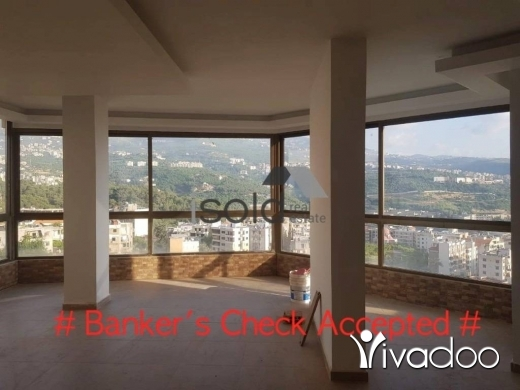 Apartments in Baabda - A 145 m2 apartment with an open mountain view for sale in Baabda