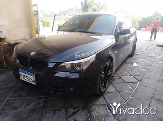 BMW in Nabatyeh - E60 model 2006 aswad aleb aswad sportpackage regaro sheshe full zaweyed ac talej boya ktir ndifi dwe