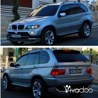 BMW in Tripoli - Tel: 70809832 ,BMW X5 model 2004 Silver/black sportpackge 6 cylnder