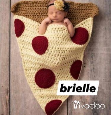 Baby & Kids Stuff in Beirut City - #handmade #Brielle_broderie #wool #baby #newborn #pizza #panda #broderie