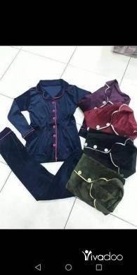 Clothes, Footwear & Accessories in Tripoli - ❤️بيجامات نسائية مخمل فتح زرار فاخرة ❤️