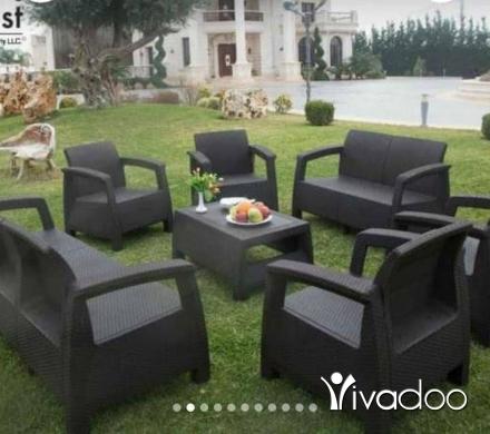 Home & Garden in Beit El Din - احلى عروضات على غرف قعدة بلكون حدائق كفالة بعد البيع عضم مقوى نقشة rattan ماركة 3M plast