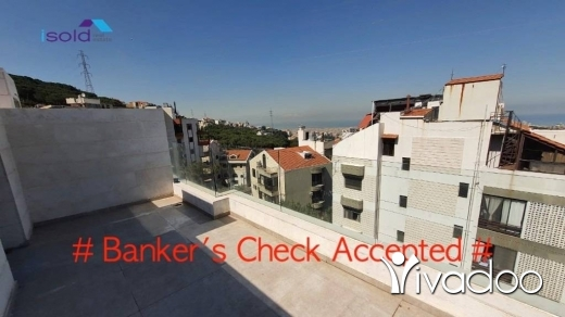 Apartments in Ain Najem - HOT DEAL - A 240 m2 duplex apartment with a terrace and an open sea view for sale in Ain Najem