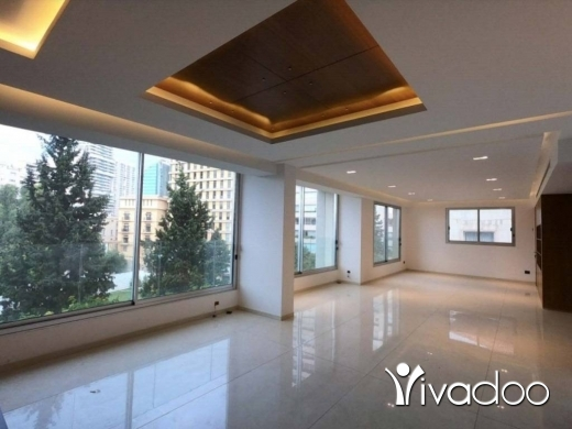 Apartments in Achrafieh - A decorated 220 m2 apartment having an open sea view for rent in Achrafieh