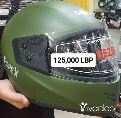 "Motorbikes & Scooters in Beirut City - SALE : Helmet Moto New Orginal "" DEZAR "" Made in India Price 125,000 LBP"