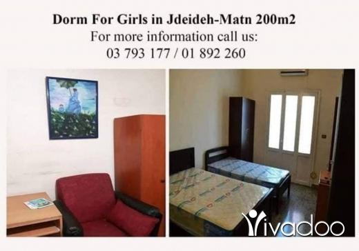 Rooms in Metn - Dorm For Girls only in Jdeideh Matn, Lebanon.