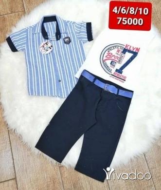 Clothes, Footwear & Accessories in Borj Hammoud - طقم صبياني ٣ قطع