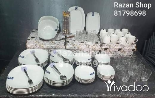 DIY Tools & Materials in Chiyah - سيرفيس صحون أبيض ثلجي بورسلان مربع