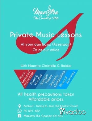 Tuition & Classes in Achkout - Music Teacher