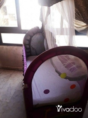 Baby & Kids Stuff in Hadeth - تخت مع الفرشة وشرف