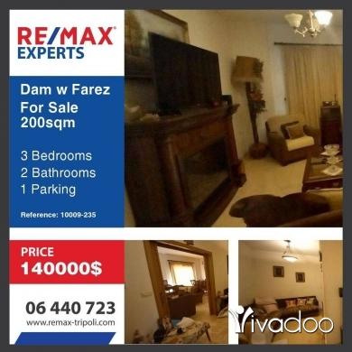 Apartments in Tripoli - Hot Deal-Apartment For Sale In Dam & Farez