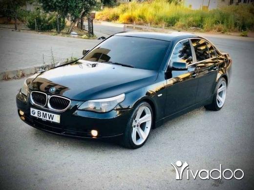 BMW in Tripoli - BMW E60 525 aswad