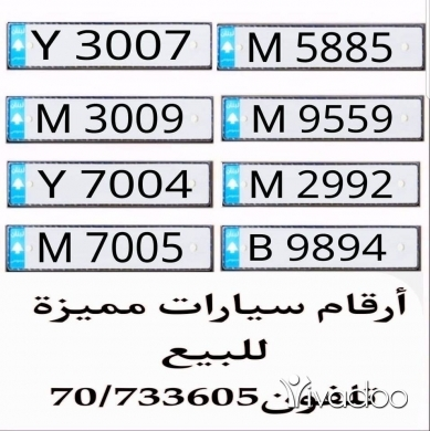 Car Parts & Accessories in Beirut City - Car plate
