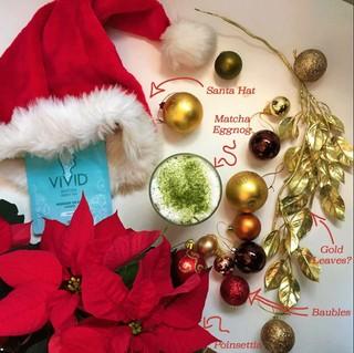 Christmas matcha eggnog