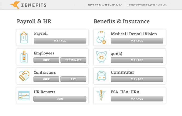 zenefits-dashboard-screenshot
