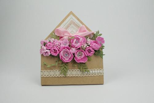 Dárková květinová obálka č. 2/ kapsa