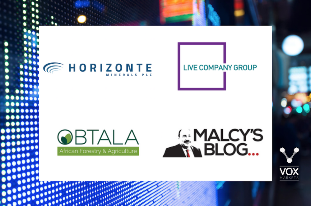 Horizonte Minerals, Live Company Group, Obtala and Malcy - Vox Markets