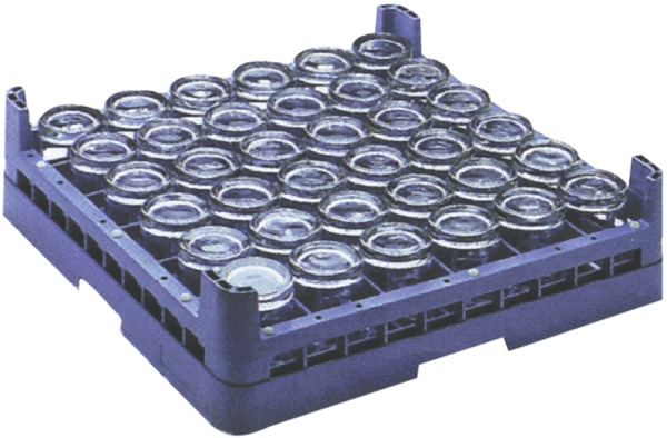 Glass Rack - 36 Compartment