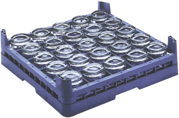 Glass Rack - 25 Compartment