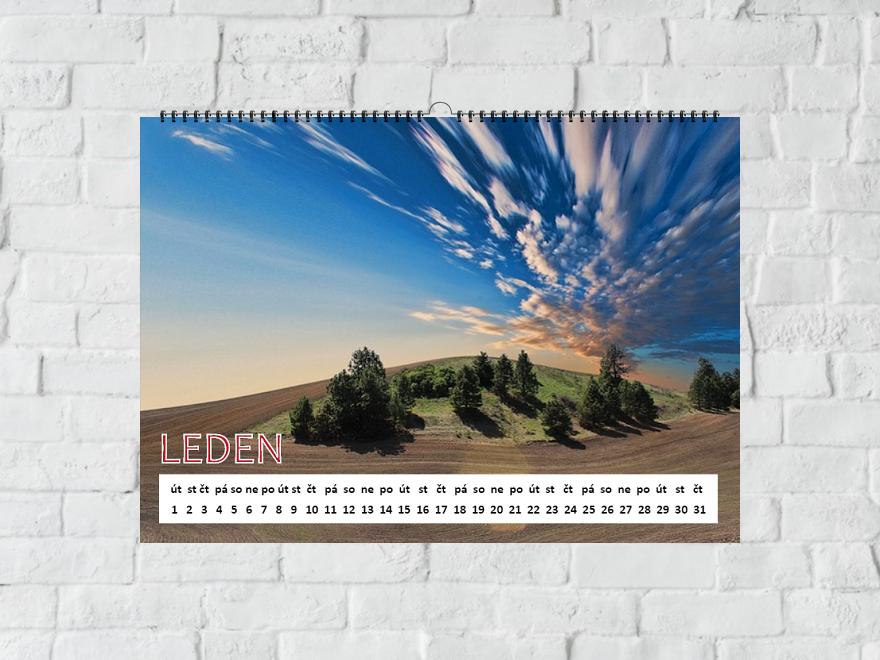 šablona Kalendář A4 linka
